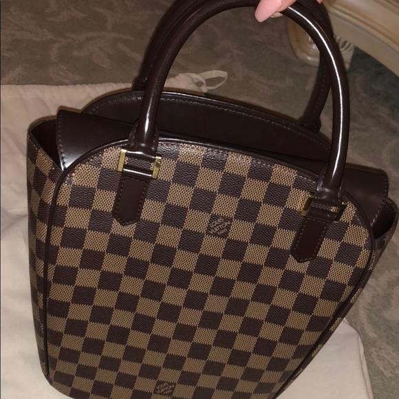 Sarria Seau Brown Ebene Damier Canvas Hand Bag ceae5c5c06